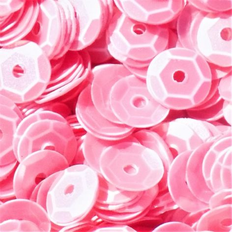 CLEARANCE 5mm Satin Pink Semi-cupped Sequins. BUY 1 GET 1 FREE